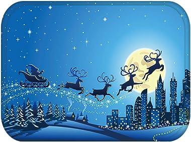40cx60cm Christmas Decoration Floor Mat Bell Tree Snowflake Print Anti-Slip Doormat Rug Floor Mats Bathroom Carpet Doot mats