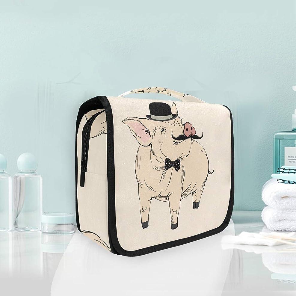 変形シリンダー両方クールかわいいハンサムな豚ハンギング折りたたみトイレタリー化粧品袋メイク旅行オーガナイザーバッグケース用女性女の子浴室
