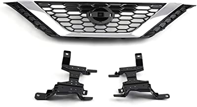 Oneuda Front Bumper ABS Black Grille Grill Front Bumper Grille Car Accessories Kit For Nissan Sentra 2016-2018
