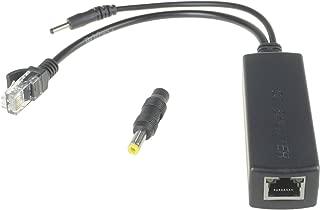 DSLRKIT Active PoE Splitter Power Over Ethernet 48V to 5V 2.4A Compliant IEEE802.3af