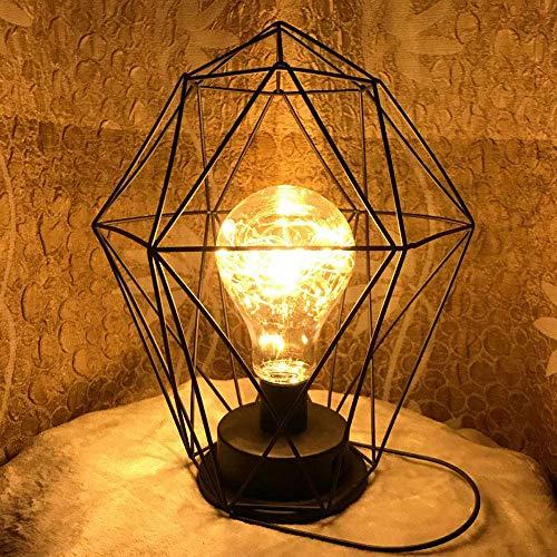 Hai Ying Tafellamp klein van ijzer Cava Decoratie plafondlamp in industriële stijl voor de Vento plafondlamp in creatieve slaapkamer met tafellamp (design: 1)