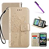 Best Htc One M8 Cases - HTC One M8 Case, LEECOCO Embossed Floral 3D Review