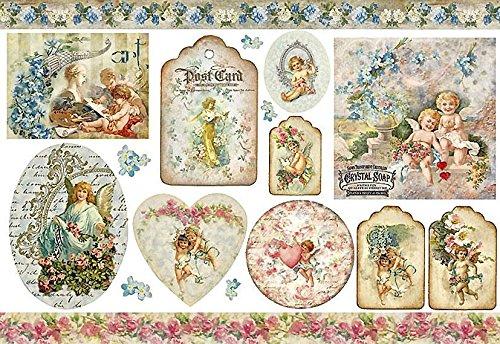 Carta di riso Angeli vintage - Stamperia DFS209