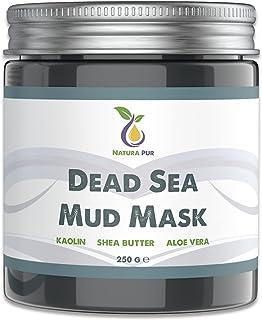 Dode Zee Gezichtsmasker 250g, veganistisch, met modder uit de Dode Zee - werkt tegen puistjes, mee-eters en acne - anti-ag...