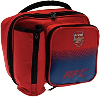 Arsenal FC Fade Lunch Bag - Features Team Colors and Crest - Zipped Bottle Holder