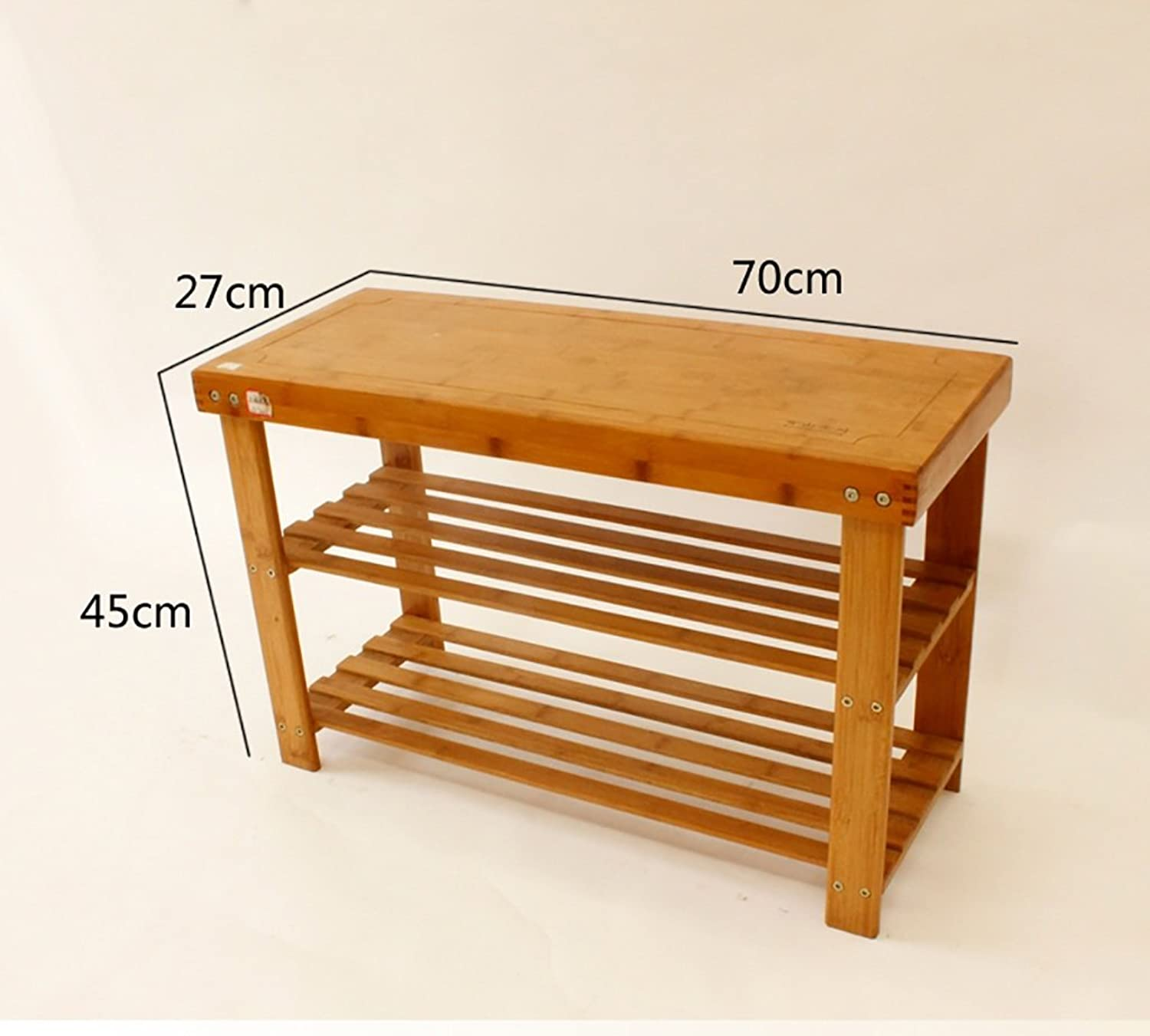 shoes Bench Organizing Rack shoes Rack, Bedroom Simple Solid Wood Flat Stool Set shoes Rack, Multi-Function for The shoes Stool (Size   70cm)