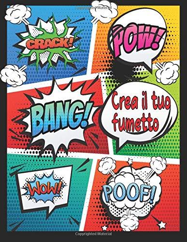 Crea il tuo fumetto: Crea i tuoi fumetti personalizzati   100 fumetti vuoti per adulti e bambini   dilettante di fumetti Manga comic   Divertente libro di attività per tutte le età