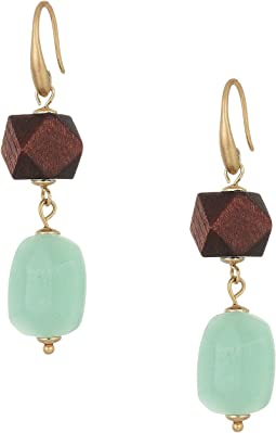 Beaded Double Drop Earrings