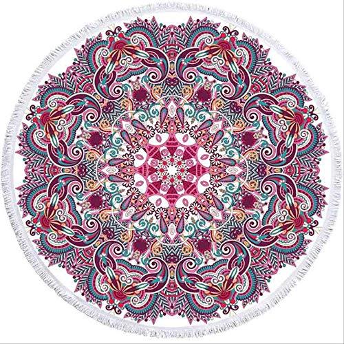 MKHB Mandala geometrische ronde strand handdoek kwast Bohemen volwassen microvezel bad douche handdoek picknick yogamat deken