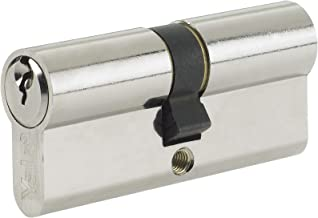Yale Standard Euro Cylinder Nickel Plated 40/50 (90mm overall) Lock with 3 keys supplied - A 6 pin cylinder with a 10 year guarentee. by Truly PVC Supplies