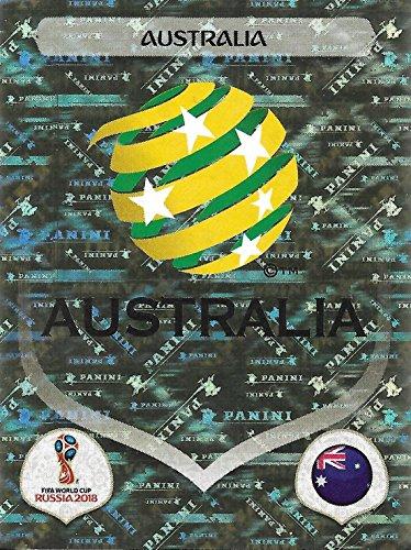 Panini WM 2018 Russia – Sticker #212 - Australien / Australia (Glitzersticker, Wappen)