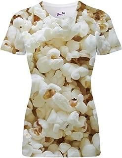 Popcorn Design All Over Sublimation Print Fun Cinema Treat Unisex Womens T Shirt