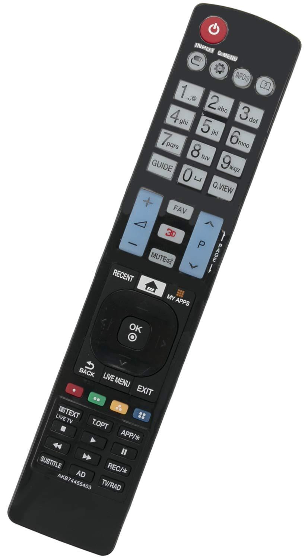 ALLIMITY AKB74455403 Control Remoto reemplazado por LG TV 22LE3320 26LV2500 32LH4900 39LB650V 42LB650V 42PC1RV 42PW450 49LF640V 50LB650V 50LF650V 55EC900V: Amazon.es: Electrónica