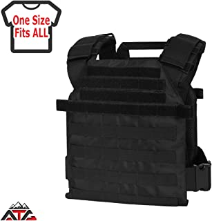 "WarTechGears Tactical Fast Vest 10""X12"" MOLLE and PALS Fully Adjustable Law Enforcement"
