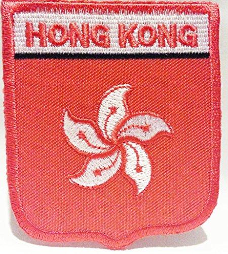b2see Fahnen Flagge Aufnäher Patches für Jacken Jeans Kleidung Bügelbilder Flicken Stoff Patch Kleider Patches Aufbügler Applikation Aufnäher zum aufbügeln Flagge Hongkong 7 x 6 cm