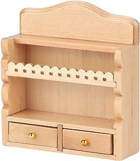 Lipcowe letnie prezenty Drewniany stojak kuchenny dla lalek, akcesoria do domku dla lalek, do domku dla lalek DIY Dollhous...