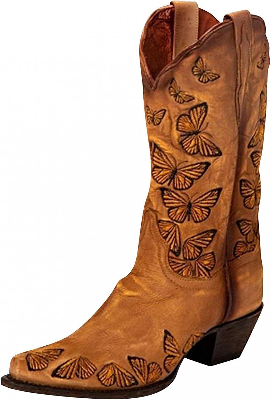 Eduavar Boots for Industry No. 1 Women Women's Fashion Square Cowb Heel Toe Dallas Mall Low