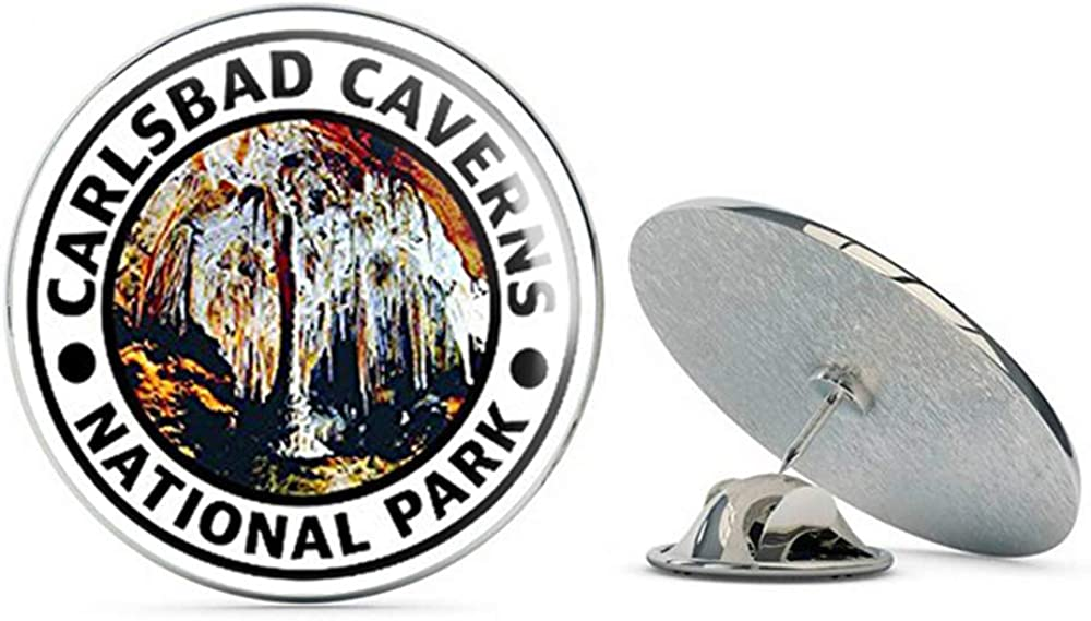 NYC Jewelers Round Carlsbad Caverns National Park (Hike Travel rv) Metal 0.75