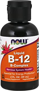 NOW Supplements, Vitamin B-12 Complex Liquid, Energy Production*, Nervous System Health*, 2-Ounce