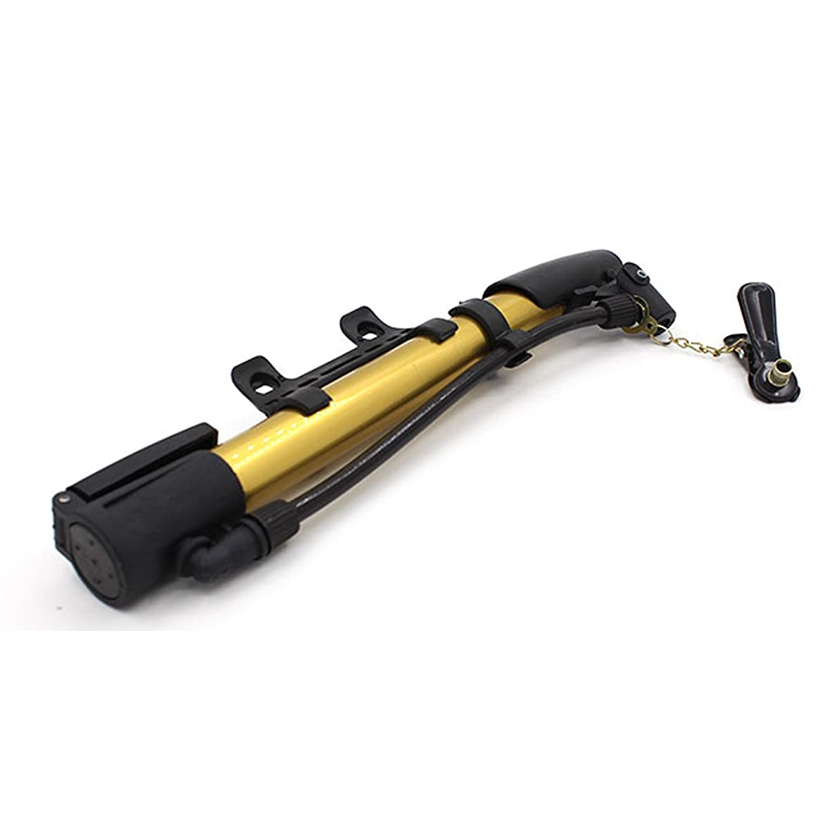 バーユダヤ人辛な(Gold) - Suyi Mini Portable Inflator Bike Ball Pump Air Stick Pump Hand Pumps Tyre Inflator Aluminium alloy Blue Silver Purple Gold