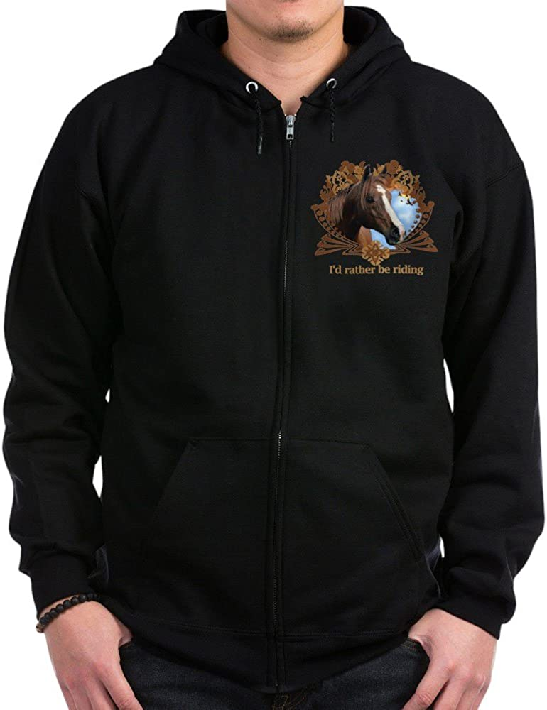 Max 75% OFF CafePress I'd Rather Be Zip Riding Ranking TOP17 Hoodie Horses