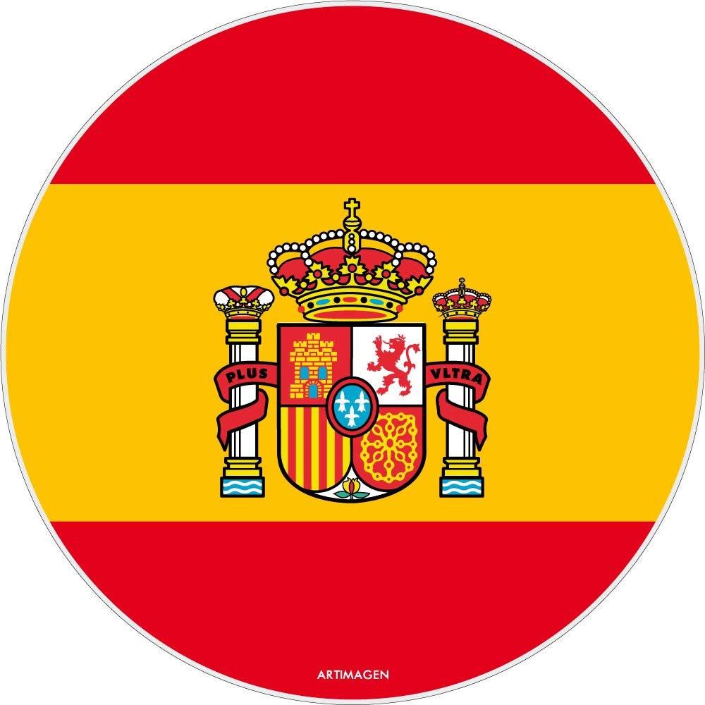 Artimagen Alfombrilla, Mouse Pad Bandera España ø 20cm.: Amazon.es ...
