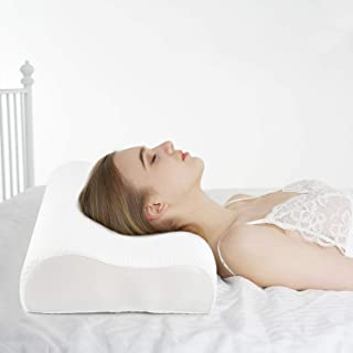 Power of Nature Memory Foam Pillow for Sleeping, Orthopedic Contour Cervical Pillow for Neck, Shoulder Pain, Pillows for B...