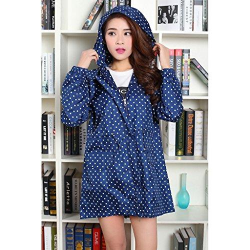 Vestes anti-pluie QFF Walk Raincoat Coat Femme Mode Adulte à Pied Imperméable Windbreaker Respirant Long Section Climbing Poncho (Couleur : Bleu)