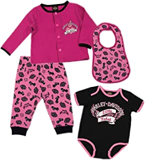 Baby Girls' Glittery 4 Pc Hanging Gift Set, Pink & Black 2500726