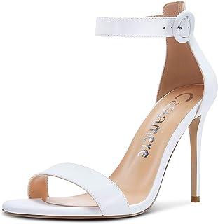 Castamere Scarpe col Tacco Donna Cinturino alla Caviglia Peep Toe Sandali Tacco a Spillo 10CM