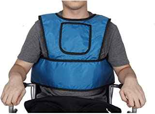 HNYG Wheelchair Seat Belt, Medical Wheelchair Safety Strap, Comfortable Mobility Scooter Restraints Harness, Wheelchair Seat Cushions for Pressure Relief (Blue)