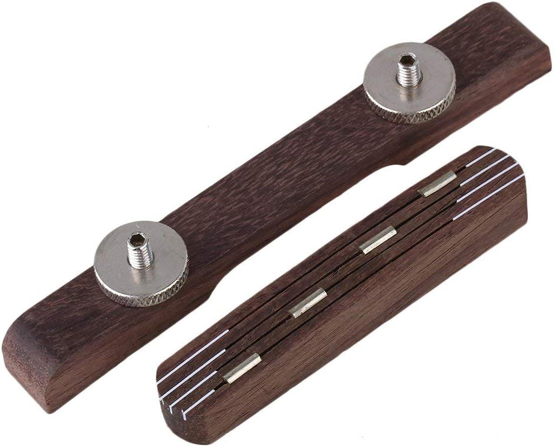 Yibuy 103mm pinkwood Mandolin Adjustable Bridge