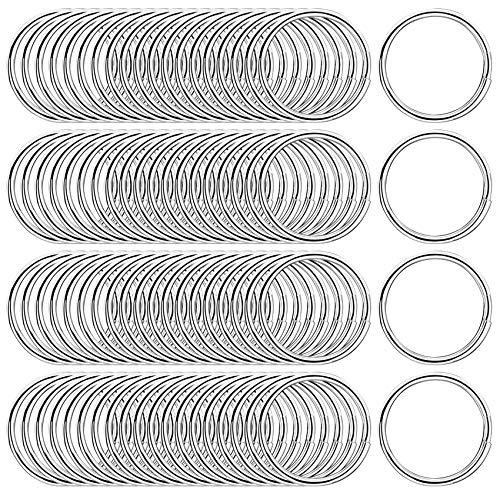 round key rings 25mm,keyring split ring stainless steel,Key Chain Ring Connectors,Circular Keychain,keyring loops