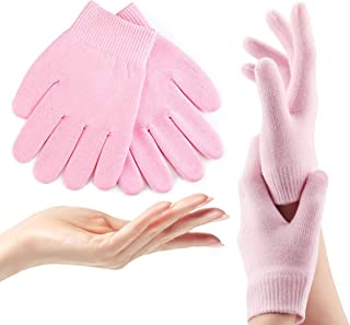 ADTALA Moisturizing Gloves,Soft Moisturizing Gel Gloves, Gel Spa Gloves For Repairing and Softening Dry Cracked Hand Skins, Gel Lining Infused with Essential Oils and Vitamins