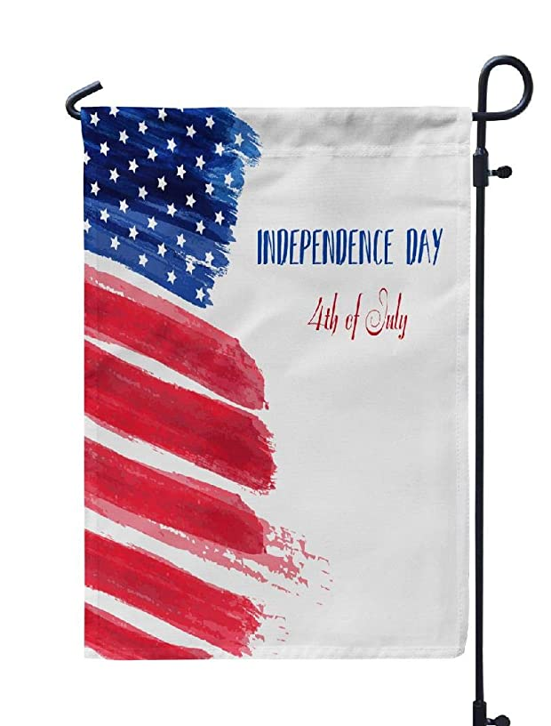 LILYMUA 4Th of July Garden Flag, USA Independence Day Happy July Abstract Grunge Flag with Seasonal Garden Flags 12''x18'' Outdoor Decorative Flags Weatherproof Flag Double Sided Flags for Garden