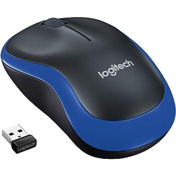 Logitech M185 Ratón Inalámbrico, 2,4 GHz con Mini Receptor USB, Batería 12 Meses, Seguimiento Óptico 1000 DPI, Ambidiestro, PC/Mac/Portátil, Azul