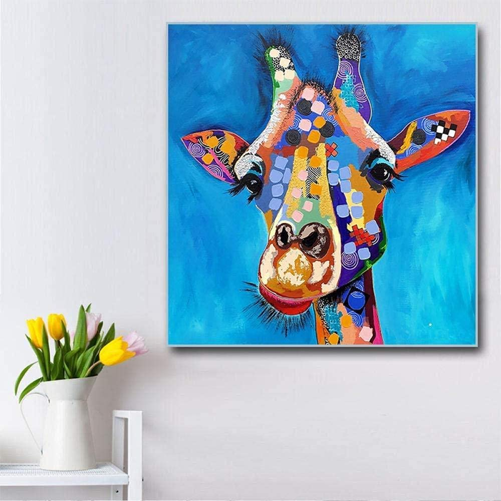 Selling aksldf Colorful Abstract Animal Oil on Omaha Mall Painting Acrylic Knife Co
