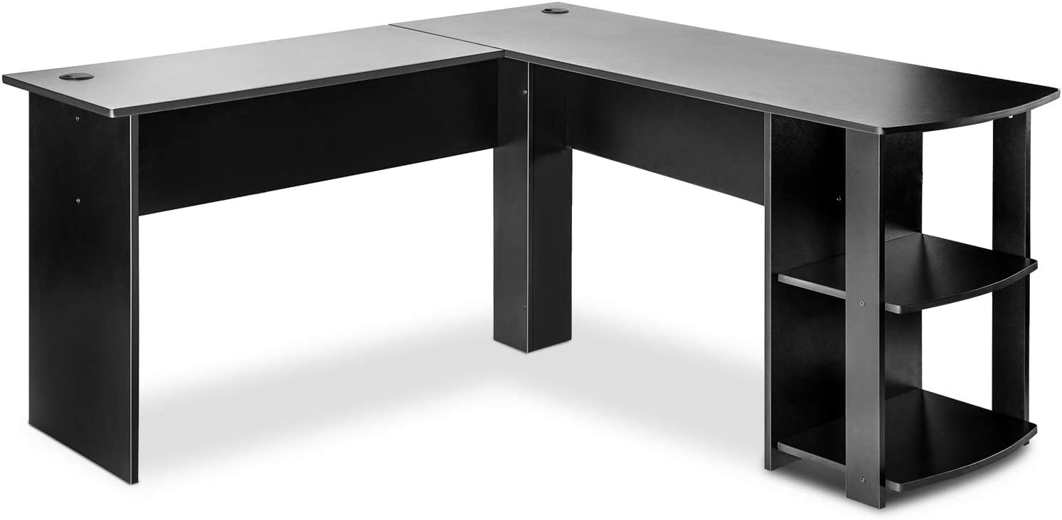HOMMOO L-Shaped Weekly update Computer Office De Corner Desk 55.1Inch Ranking integrated 1st place