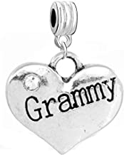 SEXY SPARKLES Grammy Engraved in a Heart Bead for Snake Chain Charm Bracelet