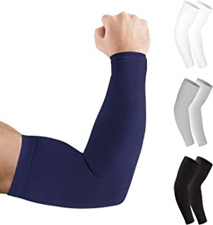 Arm Sleeves Lions Family Mens Sun UV Protection Sleeves Arm Warmers Cool Long Set Covers White