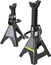 Torin AT43002AB Steel Jack Stands: Double Locking, 3 Ton (6,000 lb) Capacity, Black, 1 Pair
