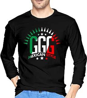 GGG Mexican Style Boxing Men's Long Sleeve T-Shirts Fashion T-Shirt Tee