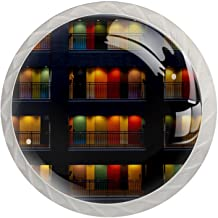 Lade knop Pull handvat 4 stuks Crystal Glass Cabinet lade trekt kast knopen,Kleur appartementen