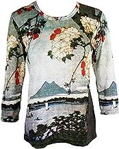 Breeke & Company Katsushika Hokusai - Cherry Blossom Cotton Micro Blend Top