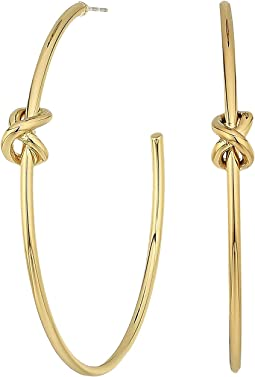 LAUREN Ralph Lauren - Classic Metal Knots Large Hoop Earrings