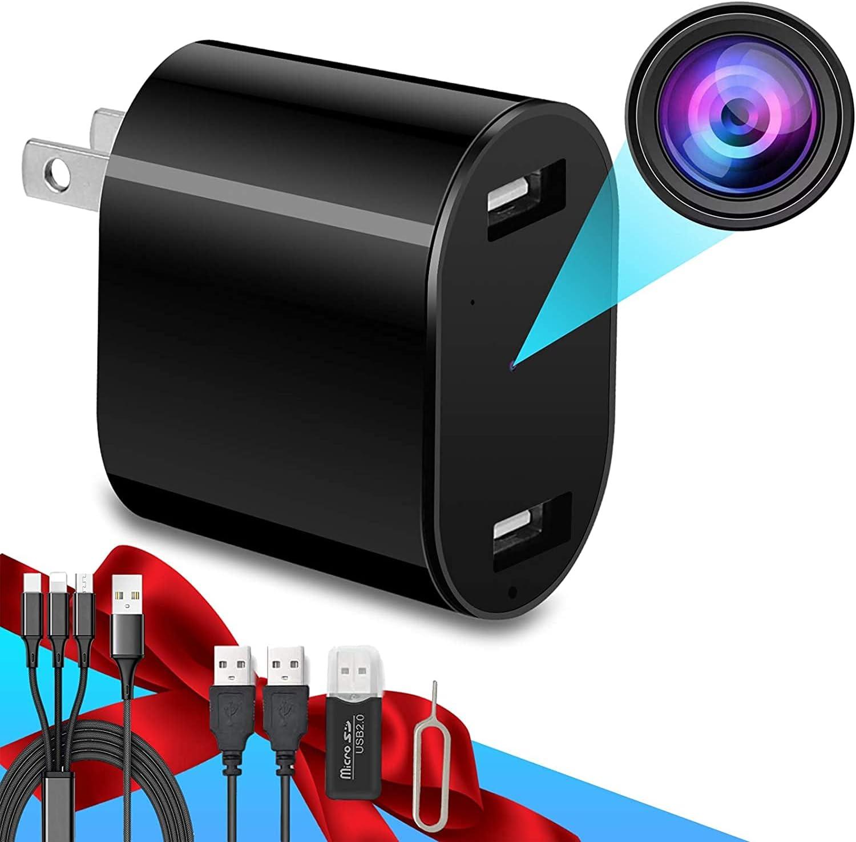 USB Charger Camera,Wall Charger Camera,Nanny Cam,Mini Camera,Home Security Camera, Surveillance Camera Full HD, Phone Charger Camera,Tiny Adapter Cam,Plug Camera,2021 New Version