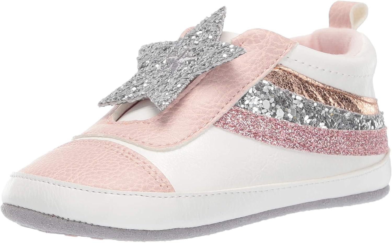 RO + ME Baby Girl-Child Slip on Sneaker Crib Shoe