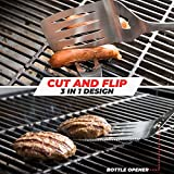 Alpha Grillers Heavy Duty BBQ Grilling Tools Set. Extra Thick Stainless Steel Spatula, Fork, Basting Brush & Tongs. Gift Box Package. Best for Barbecue & Grill. 18 Inch Utensils Turner Accessories