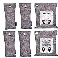 6 paquetes Bolsas purificadoras de aire natural Absorbente y eliminador de olores de aire reutilizable, armario, deshumidificador de armario, desodorizador, ambientador de automóvil