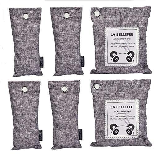 LA BELLEFÉE Bolsa de Carbón Activo Ambientador de Aire Natural Absorbentes de Humedad Desodorante para Eliminar los Olores del Automóvil Armarios Zapatos Frigorífico